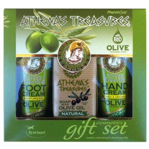 Gift Set Mini 24 ( Foot Cream Natural & Hand Cream Avocado 60ml & Olive Oil Soap Natural 100gr)