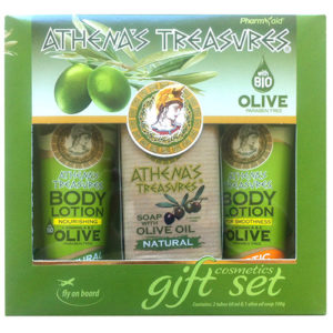 Gift Set Mini 25 (2 Body Lotions Natural-Exotic Fruits 60ml & Olive Oil Soap 100gr)