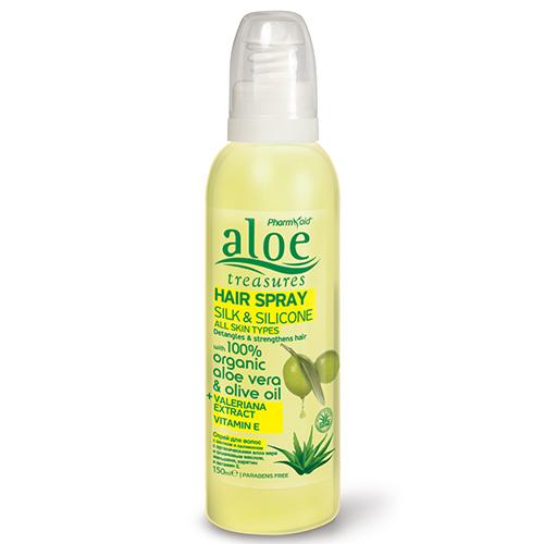 Aloe Treasures Hair Spray Silk & Silicone 150ml